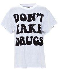 Jeremy Scott Woven Drugs Top white - Lyst
