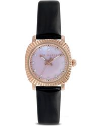 Ted Baker Mini Jewel Patent Leather Strap Watch 26mm - Lyst