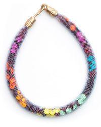 Peppercotton Thin Rainbow Swarovski Crystal Bracelet - Multicolour