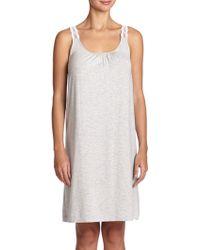 Hanro Liz Jersey Tank Gown gray - Lyst