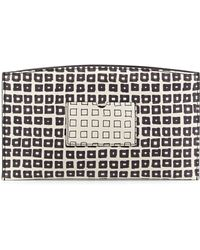 Reed Krakoff Square-Print Atlantique Leather Zip Pouch black - Lyst