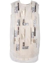 By Malene Birger Maruta Geometric Sequin Dress - Lyst