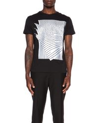 Christopher Kane Men'S Pin Stripe Pages Screen Print Cotton Tee - Lyst