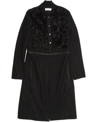 A.L.C. Fur Panel Rocio Coat black - Lyst