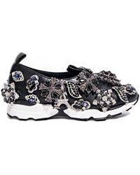 Pixie Market - Jeffrey Campbell Aleksa Jeweled Slip On Sneaker - Lyst