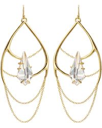 Alexis Bittar Kinetic Draping Gold-plated Chain Earrings - Lyst