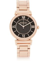 Michael Kors Caitlin Crystal-embellished Rose Gold-tone Watch - Lyst