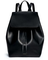 Mansur Gavriel Contrast Lining Leather Backpack - Lyst