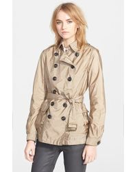 Burberry Brit Peasdale Short Trench Coat - Lyst