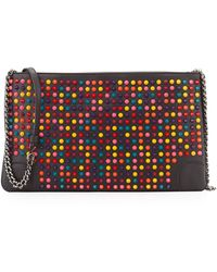 Christian Louboutin Loubiposh Spiked Clutch Bag - Lyst