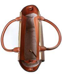 MICHAEL Michael Kors Lana Medium Leather Tote Bag - Brown