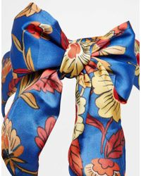 Asos Headscarf in Deco Floral Print - Lyst