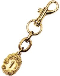 Lulu Frost Victorian Plaza Charm Number Keychain #1 gold - Lyst