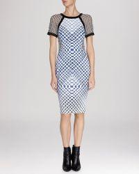 Karen Millen Dress - Printed Signature Stretch - Lyst