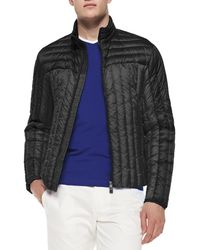 Moncler Quilted Zip-front Jacket - Lyst