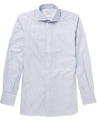 Drake's Striped Cotton Shirt - Lyst