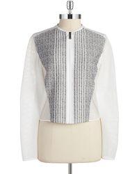 Elie Tahari Telese Zip Front Jacket - Lyst