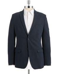 Calvin Klein Slim Fit Knit Blazer blue - Lyst