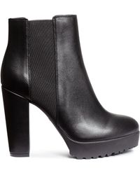 H&M | Platform Ankle Boots | Lyst