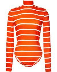 Preen Printed Swim Hartley Swimsuit in Red Breton - Lyst