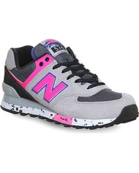 New Balance 574 Leather Trainers - For Women - Lyst