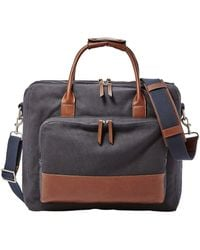 Fossil - Carson Canvas Travel Briefcase - Lyst
