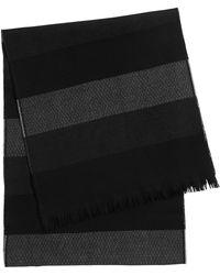 BOSS | 'pengorio' | Wool Patterned Stripe Scarf | Lyst