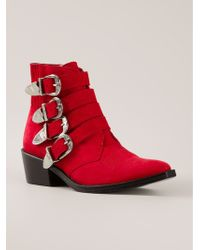 Toga Pulla Buckled Ankle Boots - Lyst