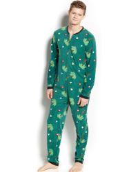 American Rag Palm Tree Lights Onesie Pajamas - Lyst