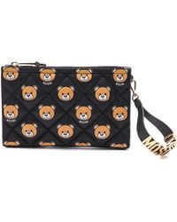 Moschino Printed Quilted Nylon Clutch - Color - Lyst