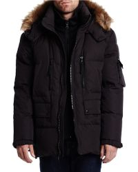 S13/nyc - Faux Fur-trimmed Hooded Parka - Lyst