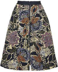 Topshop Womens Kirada Jacquard Midi Skirt  Multi - Lyst
