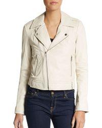 Joie Caldine Leather Moto Jacket - Lyst