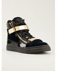 Giuseppe Zanotti Hitop Sneakers - Lyst