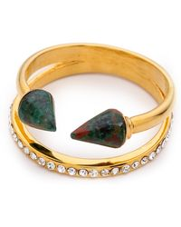 Vita Fede - Ultra Mini Titan Stone & Crystal Ring - Criscolla/Gold - Lyst