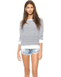 Wildfox Stripe Baggy Beach Sweatshirt - Lyst