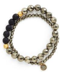 Satya Jewelry - Beaded Stretch Bracelets - Pyrite (set Of 2) - Lyst