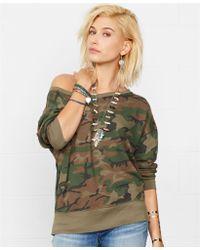 Denim & Supply Ralph Lauren Slouchy Camo-print Sweatshirt - Lyst