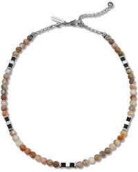 John Hardy Brown Bead Necklace - Lyst