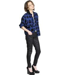 Burberry Brit | Checked Cotton Flannel Shirt | Lyst