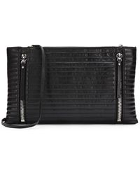 Vince Camuto Quilted Leather Convertible Clutch - Lyst