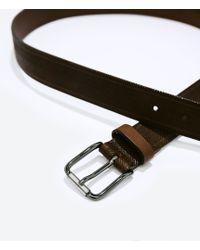 Zara Fantasy Herringbone Belt - Lyst