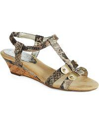 Anne Klein Narelle T-Strap Sandals - Lyst