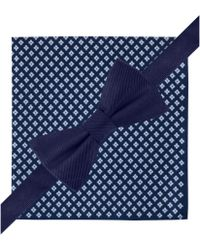 Tommy Hilfiger Solid Bow Tie  Neat Pocket Square Set - Lyst