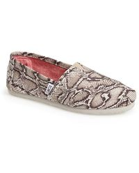 TOMS 'Classic - Snake' Canvas Slip-On - Lyst