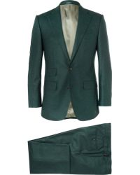 Thom Sweeney Green Weighouse Slim-fit Wool Suit - Lyst