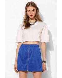 Sparkle & Fade - Zipfront Basketball Mini Skirt - Lyst