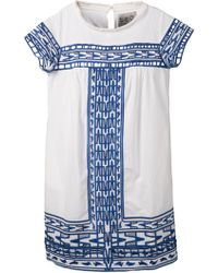 Sea Embroidered Shift Dress - Lyst
