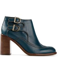 See By Chloé Buckled Ankle Boots - Lyst