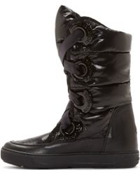 Moncler Black Quilted Puffer Catherine Boots - Lyst